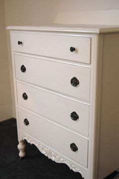 Cottage White Dresser Painted and Distressed by Daniscustomdesigns,
