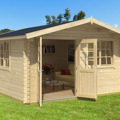 Ξύλινο σπίτι Καλλιόπη showood Logs, Shed, Outdoor Structures, Cabin, Barns, Sheds, Magazines