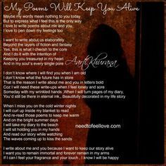 MY POEMS WILL KEEP YOU ALIVE