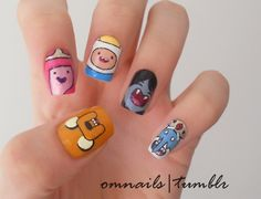 adventure time nails!