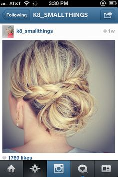 Up do with Braids, takes the messy bun up a notch! LOVE!