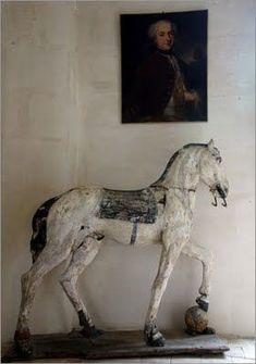 Rocking Horse Wooden - Ideas on Foter Antique Rocking Horse, Vintage Horse, Rocking Horses, Equestrian Decor, Equestrian Style, Antique Toys, Vintage Antiques, Antique Furniture, Wooden Horse