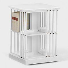 Bücherkarussel klein, Birke weiß