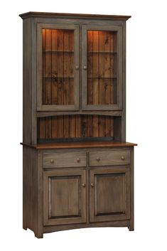 Capri Shaker Style Hutch from DutchCrafters Amish Furniture