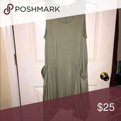 Piko style dress ❗️I am about to go to the post office! 2 hours price drop accepting ALL offers❗️ LOVE LOVE  this dress. It is too big in me now. It isnt the piko brand but it feels EXACTLY  that material. Has great huge pockets. Can be worn with a long necklace and sandals. Or strappy heels. Can be casual or dressier. Its a lightt army green color. Im looking for something similar but smaller.  ORIGINALLY $50  Alter'd state Francescas Piko Mossimo Below the knee dress Casual dress Boutique…