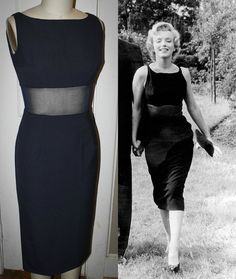 Marilyn Monroe Black Pinup Wiggle Dress Sheer by Morningstar84, $165.00  loja q reproduz roupas da MM.
