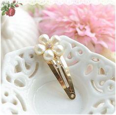 Pearl Flower Golden Crown Fur Cat Girls Hair Clip Hairpin Baby Hair Accessories Kids Children Headwear kk1201