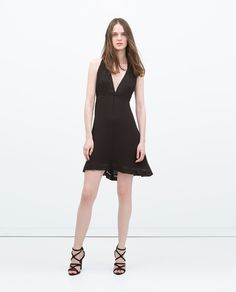 DRESS WITH KNOTTED PANELS AT THE BACK-Woman-IT'S DRESS UP TIME   ZARA United States