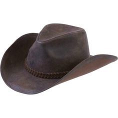 Casual Outfitters™ Solid Genuine Leather Cowboy Hat #CowboyWestern