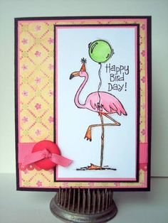 Pink Lemonade Bird-Day by cvansluys - Cards and Paper Crafts at Splitcoaststampers