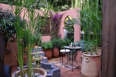Moroccan style courtyard