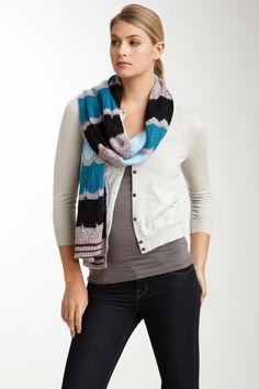 Missoni Sweater Knit Scarf - Teal