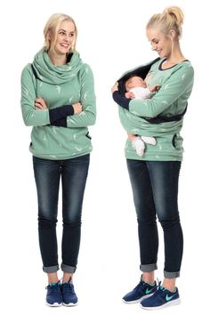Maternity wear to hold baby