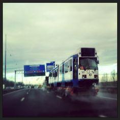 Driving a tram   Amsterdam highway