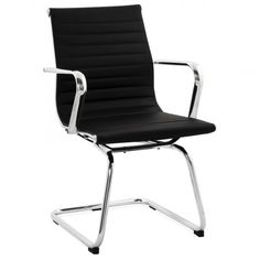 Ce Fauteuil de bureau COUROL en simili cuir (noir) est idéal pour de longues heures assis au bureau au travail ou à la maison.