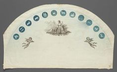 Unmounted double paper fan leaf, commemorating Treaty of Amiens, English (London) October 2, 1801 - in the Museum of Fine Arts Boston.