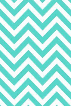 iPhone 5 Wallpaper - Turquoise Chevron