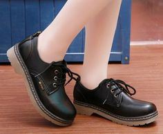 New 2014 spring oxford shoes for women her shoes pumps thick heels lace-up solide color oxford shoes $32.99