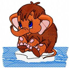 Mammoth free embroidery design - Cartoon free embroidery collection - Machine embroidery forum
