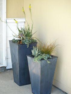 Zinc Planters Crate & Barrel