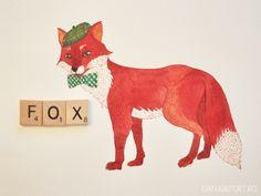 """Letter """"f"""" = fox. by Oana."""