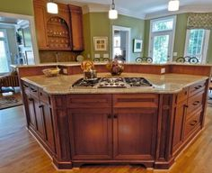 curved islands with seating and range - Google Search