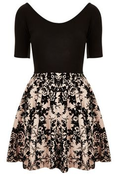 Devore Skater Dress by Annie Greenabelle by Topshop