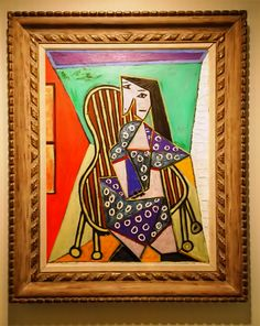"#Picasso ""Woman sitting in Armchair - Femme Assise' via Pablo Picasso Collection FB"
