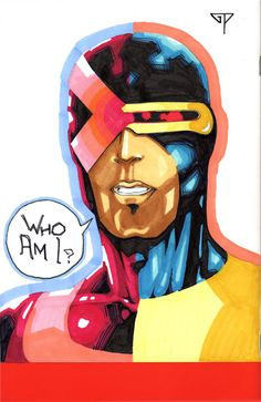 X-Men Blank Cover (back) - Cyclops by Guillomcool