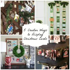 5 Creative Ways to Display Christmas Cards | http://www.domesticcharm.com/5-creative-ways-display-christmas-cards/