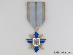 WWII Order of Aeronautical Virtues Merit - Order of Aeronautical Virtues - Orders - Romania (Kingdom) - Europe Military Divisions, Wwii, Tanks, Campaign, Europe, Decorations, Architecture, Silver, Design