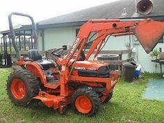 Nice 2003 Kubota B7500 4x4 Diesel Compact Tractor w Loader Mower | eBay