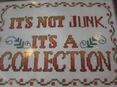 kit its not junk its a collection needlework by MNPrairieCrafts, $9.00