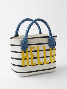 Adorable —Hello stripe tote bag #Gap