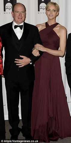dailymail:  Prince Albert and Princess Charlene of Monaco attend the opening of the Grace Kelly retrospective at the Michener Art museum in Philadelphia, October 26, 2013.
