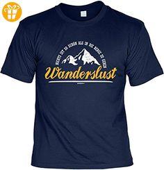 Wander T-Shirt Wanderslust Kletter Bergsteiger Shirt 4 Heroes Geburtstag Geschenk geil bedruckt (*Partner-Link)