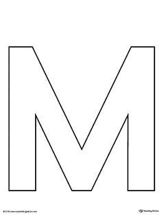 Uppercase letter n template printable pinterest letter templates uppercase letter m template printable worksheete uppercase letter m template is an ultra useful maxwellsz