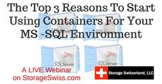 "Register now for our upcoming Live Webinar with DH2i ""The Top 3 Reasons To Start Using Containers For Your MS-SQL Environment"""