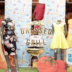 Weber® has teamed up with international clothing brand Ted Baker to create a series of high fashion window displays for their 'Ted's Dressed to Grill' summer campaign. www.boxerbranddesign.com