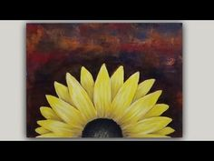 Acrylic Painting Black Eyed Susan Flower on an Abstract Background - YouTube
