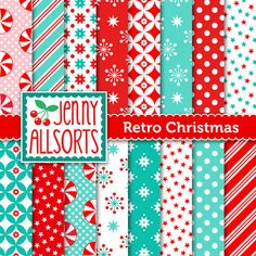 Retro Vintage Christmas Digital Scrapbook by JennyAllsortsDesign