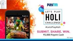 Paytm ka Let's Play Holi Offer || Win up to 5000 Rs paytm cash || Paytm ...