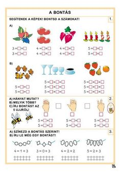 Albumarchívum Preschool Math, Album, Worksheets, Archive, Bullet Journal, Learning, Diy, School, Relationships