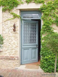 Frenchy front door.