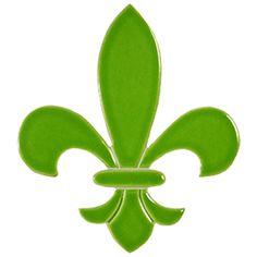"""Fleur de Lis Lime 6"""""""