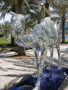 Disco ball camel, Dubai