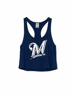 836031b000d1a4 Brewer s tanktop. See more. Milwaukee Brewers Bling Crop Tank PINK Sport  Clothing