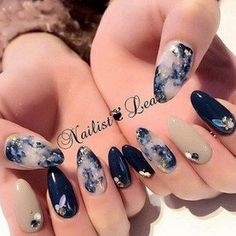 Elegant nail art designs for prom 2019 043 - Makeup for Best Skins! Summer Acrylic Nails, Best Acrylic Nails, Cute Nails, Pretty Nails, Nail Art Designs, Gel Nails, Nail Polish, Elegant Nail Art, Kawaii Nails