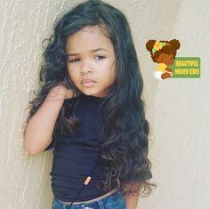 Honey - 4 Years • African American & Caucasian ♥️ FOLLOW @BEAUTIFULMIXEDKIDS http://instagram.com/beautifulmixedkids