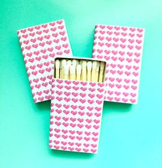 HEARTS MATCHBOXES by annechovie on Etsy